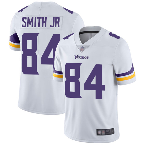 Vikings #84 Irv Smith Jr. White Youth Stitched Football Vapor Untouchable Limited Jersey