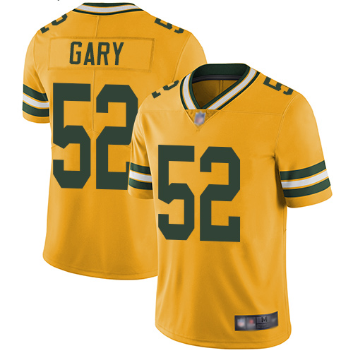 Packers #52 Rashan Gary Yellow Youth Stitched Football Limited Rush Jersey