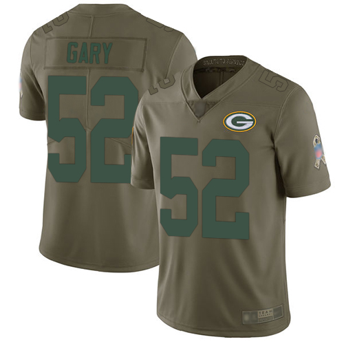 Packers #52 Rashan Gary Olive Youth Stitched Football Limited 2017 Salute to Service Jersey