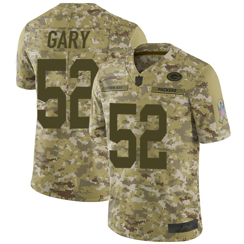 Packers #52 Rashan Gary Camo Youth Stitched Football Limited 2018 Salute to Service Jersey