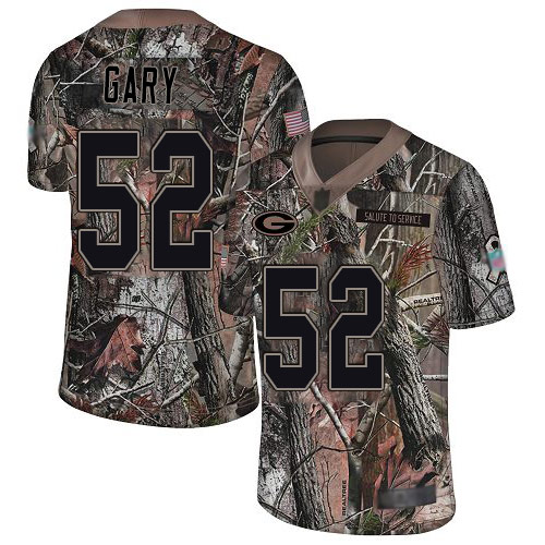 Packers #52 Rashan Gary Camo Youth Stitched Football Limited Rush Realtree Jersey