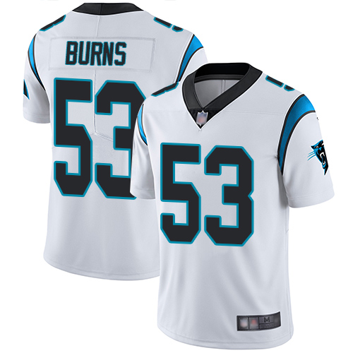 Panthers #53 Brian Burns White Youth Stitched Football Vapor Untouchable Limited Jersey