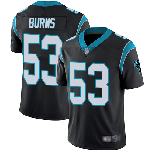 Panthers #53 Brian Burns Black Team Color Youth Stitched Football Vapor Untouchable Limited Jersey
