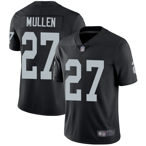 Raiders #27 Trayvon Mullen Black Team Color Youth Stitched Football Vapor Untouchable Limited Jersey