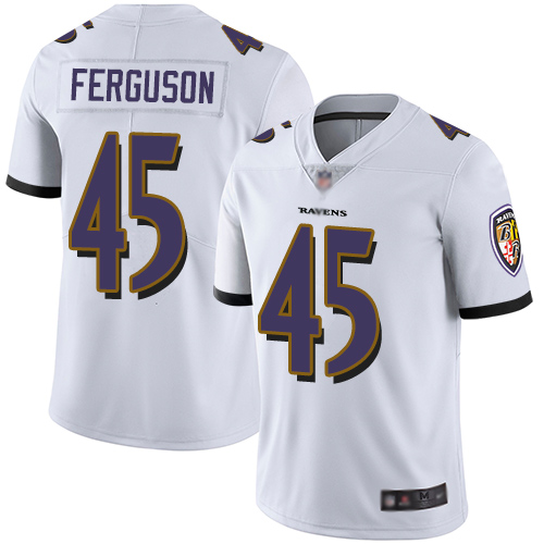 Ravens #45 Jaylon Ferguson White Youth Stitched Football Vapor Untouchable Limited Jersey