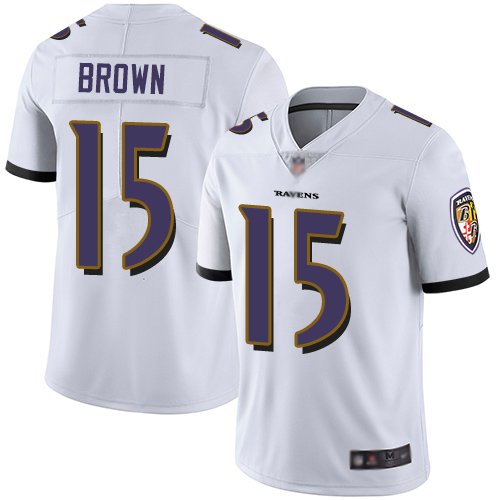 Ravens #15 Marquise Brown White Youth Stitched Football Vapor Untouchable Limited Jersey