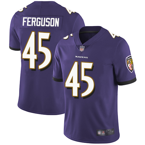 Ravens #45 Jaylon Ferguson Purple Team Color Youth Stitched Football Vapor Untouchable Limited Jersey