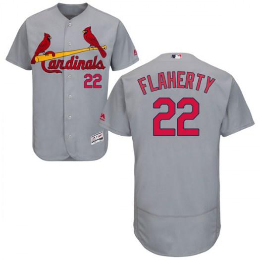 Men's St. Louis Cardinals #22 Jack Flaherty Authentic Gray Flex Base Road Collection Jersey