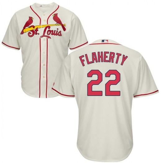 Men's St. Louis Cardinals #22 Jack Flaherty Cream Cool Base Alternate Jersey