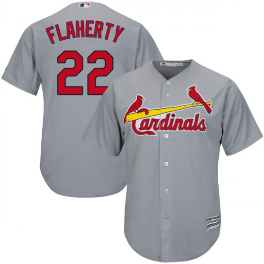 Men's St. Louis Cardinals #22 Jack Flaherty Gray Cool Base Road Jersey