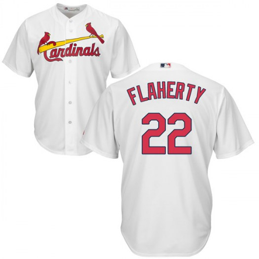 Men's St. Louis Cardinals #22 Jack Flaherty White Cool Base Home Jersey