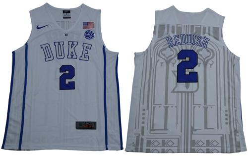 Blue Devils #2 Cameron Reddish White Basketball Elite Stitched College Jersey