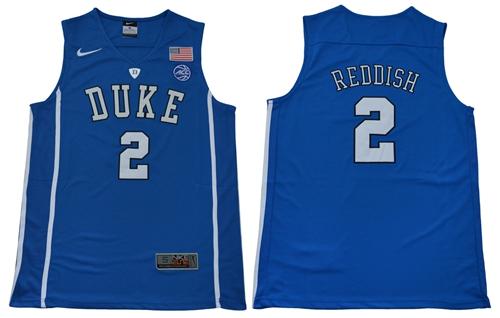 Blue Devils #2 Cameron Reddish Blue Basketball Elite Stitched College Jersey