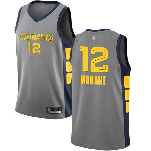 Grizzlies #12 Ja Morant Gray Basketball Swingman City Edition 2018-19 Jersey