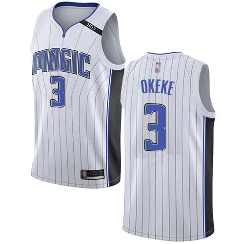 Magic #3 Chuma Okeke White Basketball Swingman Association Edition Jersey