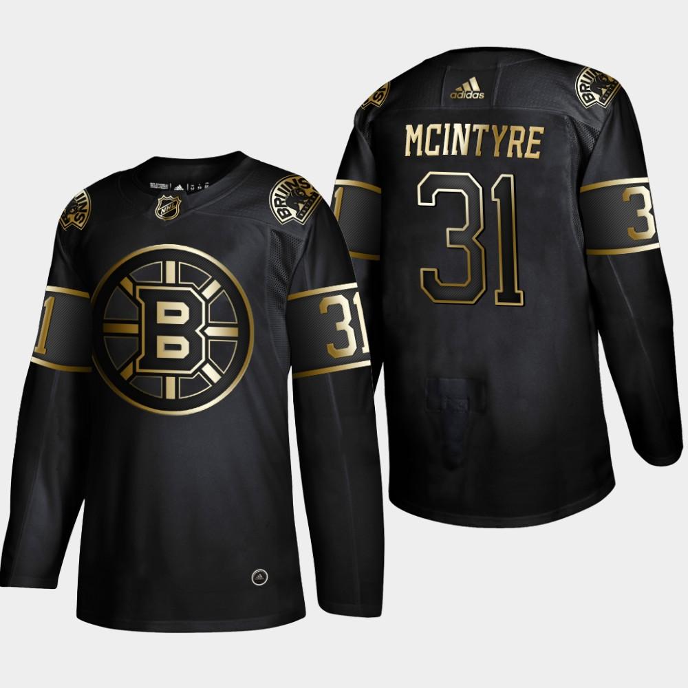 Bruins 31 Zane McIntyre Black Gold Adidas Jersey