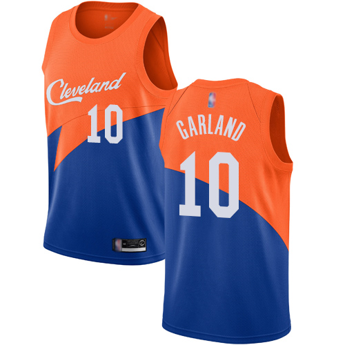 Cavaliers #10 Darius Garland Blue Basketball Swingman City Edition