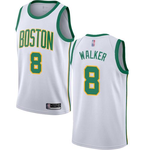 Celtics #8 Kemba Walker White Basketball Swingman City Edition
