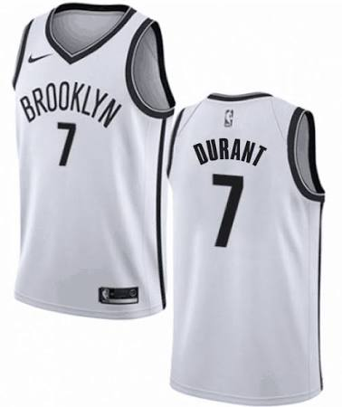 Men's Brooklyn Nets #7 Kevin Durant Nike White Swingman 2019-20