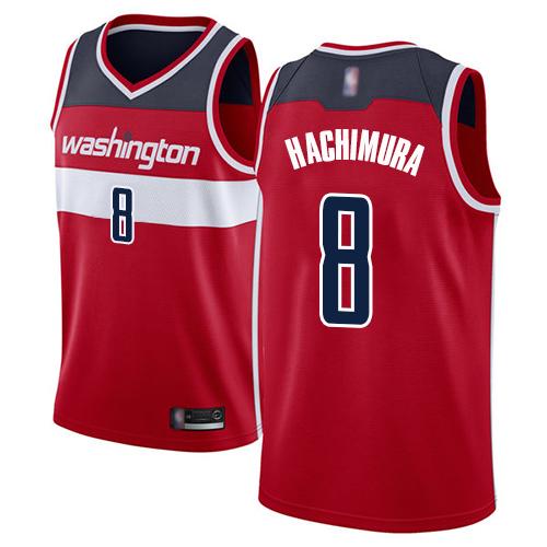 Wizards #8 Rui Hachimura Red Basketball Swingman Icon Edition