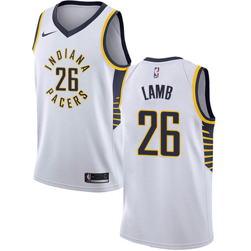 Nike Pacers #26 Jeremy Lamb White NBA Swingman Association
