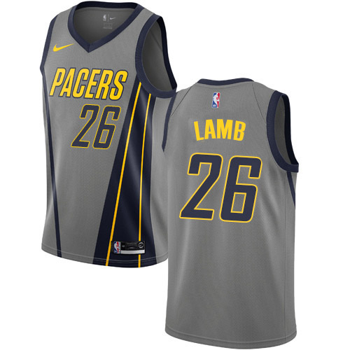 Nike Pacers #26 Jeremy Lamb Gray NBA Swingman City Edition