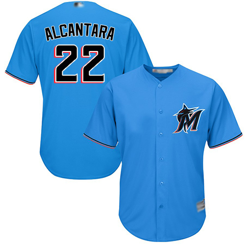 marlins #22 Sandy Alcantara Blue New Cool Base Stitched Baseball