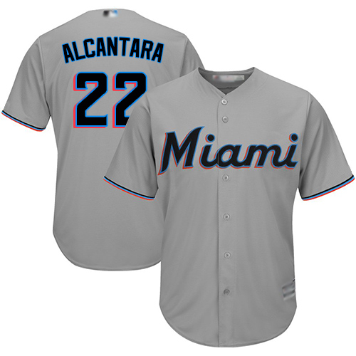 marlins #22 Sandy Alcantara Grey New Cool Base Stitched Baseball