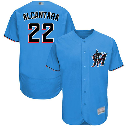 marlins #22 Sandy Alcantara Blue Flexbase Authentic Collection