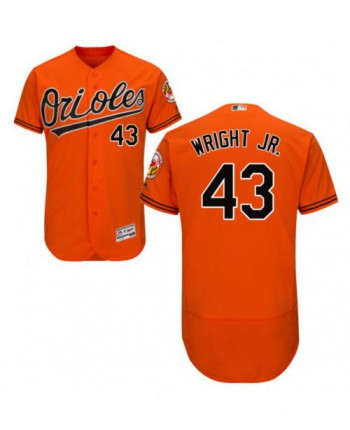 Men's Majestic Baltimore Orioles #43 Mike Wright Jr. Authentic Orange