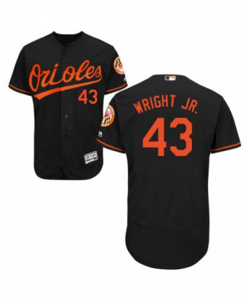 Men's Majestic Baltimore Orioles #43 Mike Wright Jr. Authentic Black