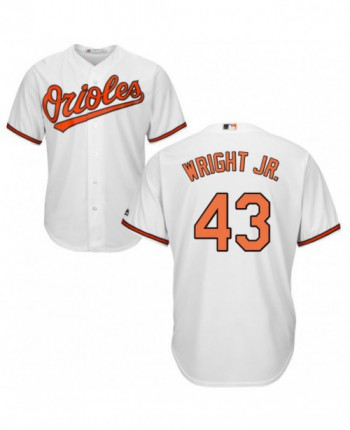 Men's Majestic Baltimore Orioles #43 Mike Wright Jr. Authentic White Home