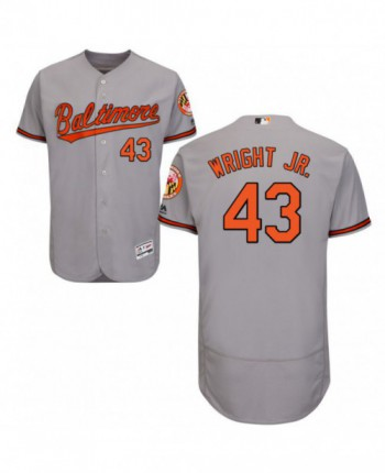 Men's Majestic Baltimore Orioles #43 Mike Wright Jr. Authentic Gray Road