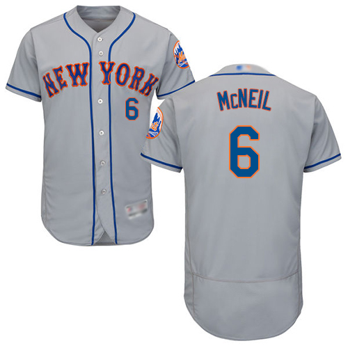 Mets #6 Jeff McNeil Grey Flexbase Authentic Collection Stitched