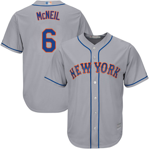 Mets #6 Jeff McNeil Grey New Cool Base Stitched Baseball Jersey