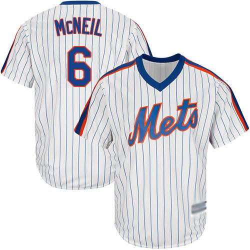 Mets #6 Jeff McNeil White(Blue Strip) New Cool Base Alternate