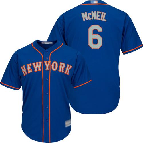 Mets #6 Jeff McNeil Blue(Grey NO.) New Cool Base Stitched Baseball