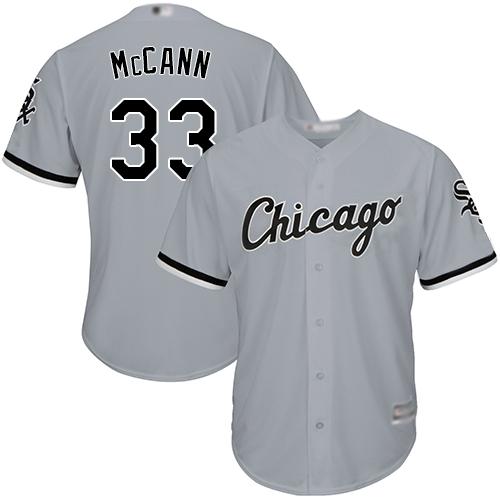 White Sox #33 James McCann Grey New Cool Base Stitched Baseball