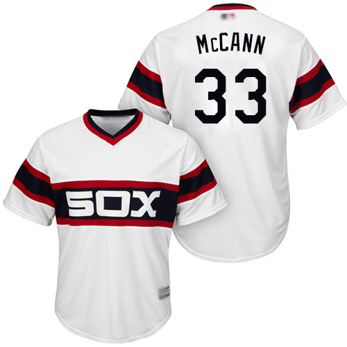 White Sox #33 James McCann White New Cool Base Stitched Baseball