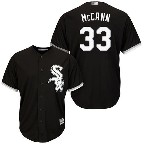 White Sox #33 James McCann Black New Cool Base Stitched Baseball