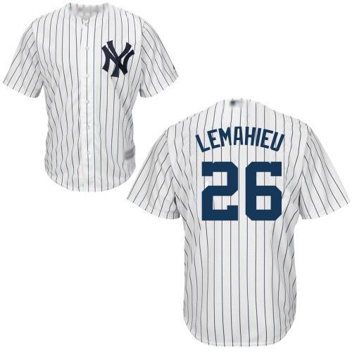 Yankees #26 DJ LeMahieu White Strip New Cool Base Stitched Baseball