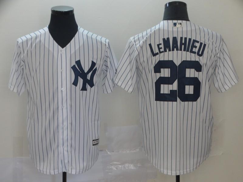 Yankees 26 DJ LeMahieu White Cool Base Jersey