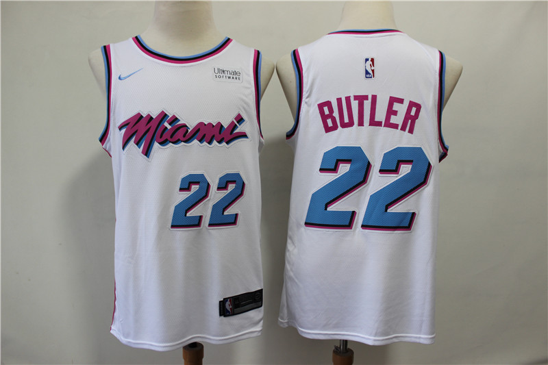 Heat 22 Jimmy Butler White City Edition Nike Swingman Jersey