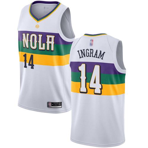 Pelicans #14 Brandon Ingram White Basketball Swingman City Edition