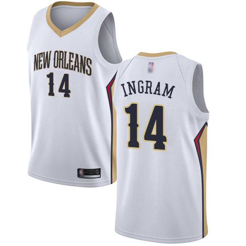Pelicans #14 Brandon Ingram White Basketball Swingman Association
