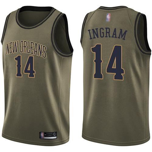 Pelicans #14 Brandon Ingram Green Basketball Swingman Salute to
