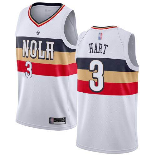 Pelicans #3 Josh Hart White Basketball Swingman Earned Edition