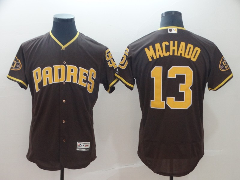 Padres 13 Manny Machado Brown Flexbase Jersey