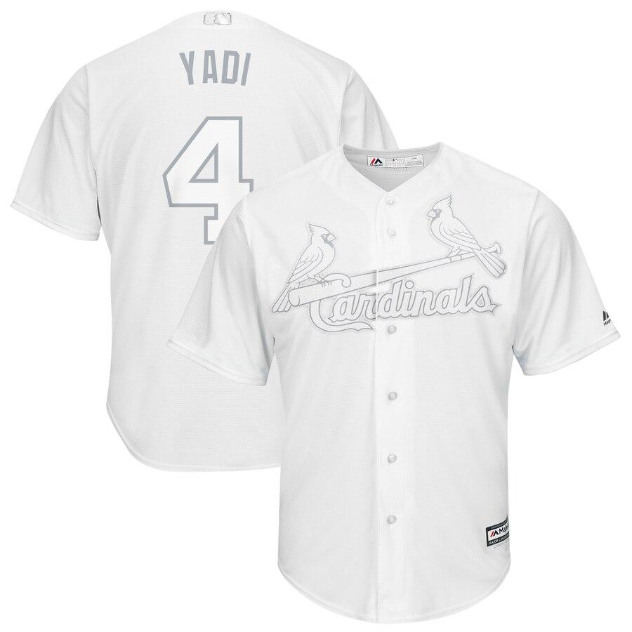 Cardinals 4 Yadier Molina Yadi White 2019 Players' Weekend Player Jersey