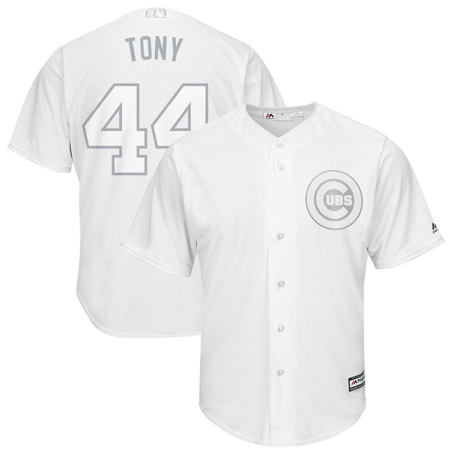 Cubs 44 Anthony Rizzo Tony White 2019 Players' Weekend Player Jersey